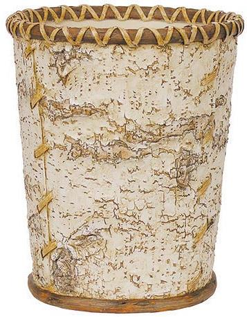 Birch Bark bathroom designer trash can