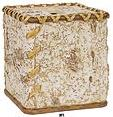 Birch Bark bathroom tissue box cover