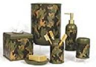 Camouflage bathroom vanity accessories