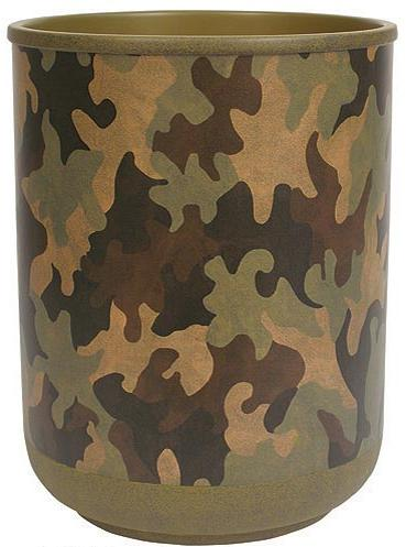 Camouflage bathroom designer trash can