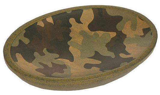 Camouflage bathroom soap dish