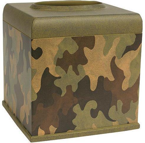 Camouflage  bathroom Tissue Box Holder