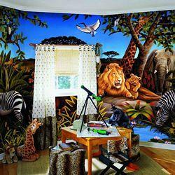 Jungle MuralFull Wall MuralBZ9103MRoom Shot