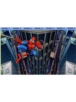 Spider-Man Mural Chair Rail Wall Mural BZ9122M Spider-Man Mural Chair Rail Wall Mural BZ9122M