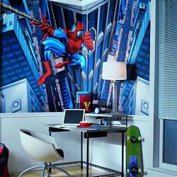 Spider-Man Mural Chair Rail Wall Mural BZ9122MRoom Shot