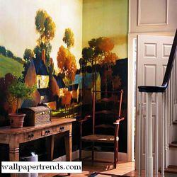 Painterly Landscape MuralFull Wall MuralRA0137MRoom Shot