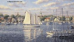 Harbor View Mural Full Wall Mural RA0143M Harbor View Mural Full Wall Mural RA0143M