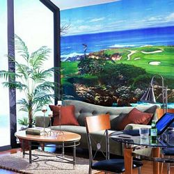 Cypress Point Mural Full Wall Mural RA0155MRoom Shot