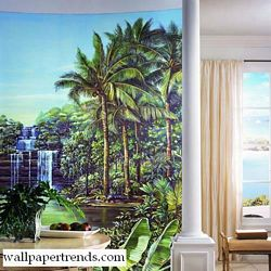 Tropical Lagoon Mural Full Wall Mural RA0172MRoom Shot