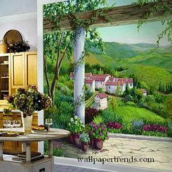 Italian Villa Mural Full Wall Mural RA0187MRoom Shot