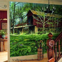 Covered Bridge MuralFull Wall MuralRA0209MRoom Shot