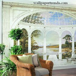 White Arches Mural Full Wall Mural RA0213MRoom Shot