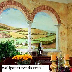 Tuscan Vista MuralFull Wall MuralUR2003MRoom Shot