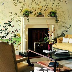 Oriental Garden Mural Full Wall Mural UR2043MRoom Shot