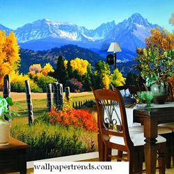 Autumn Landscape MuralFull Wall MuralWG0309MRoom Shot