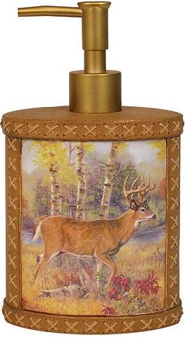 Deer Cabin  bathroom Soap/Lotion Dispenser Pump