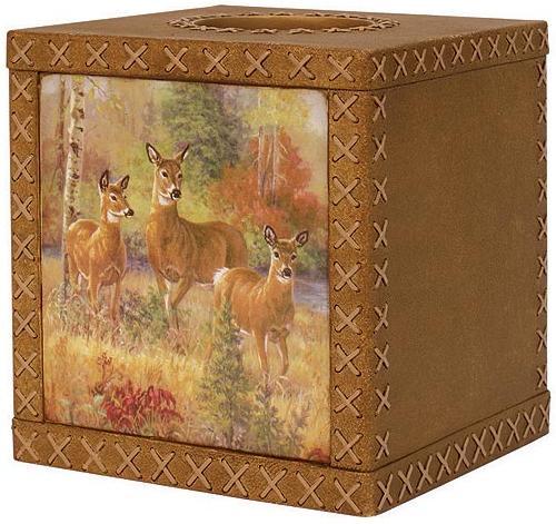 Deer Cabin  bathroom Tissue Box Holder