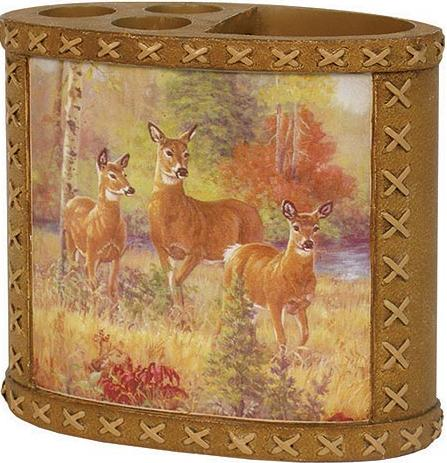 Deer Cabin  bathroom Toothbrush Holder