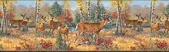 Deer Lodge bathroom wallpaper borders