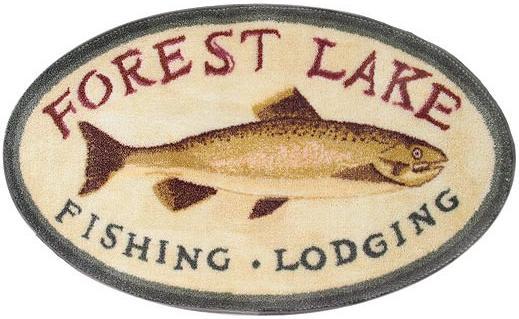 Fishing Lodge  bathroom Bathroom Rug