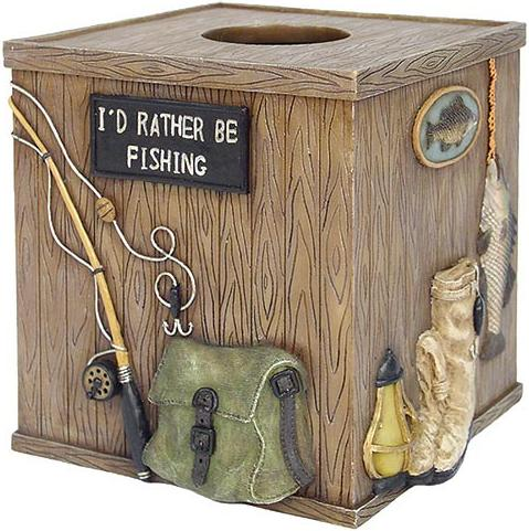 Fishing Lodge  bathroom Tissue Box Holder
