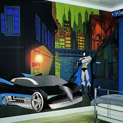 Batman Mural Full Wall Mural BZ9463MRoom Shot