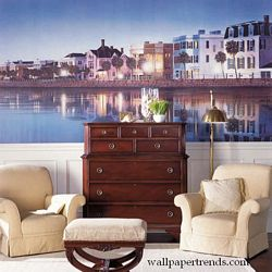 Charleston Mural Chair Rail Wall Mural RA0116MRoom Shot