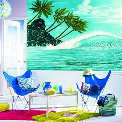 Hang Ten Mural Chair Rail Wall Mural RA0120MRoom Shot