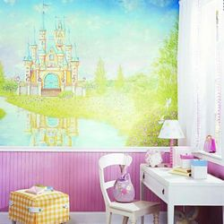 Storybook Mural Chair Rail Wall Mural RA0152MRoom Shot