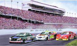 Daytona Raceway MuralChair Rail Wall MuralRA0201MDaytona Raceway MuralChair Rail Wall MuralRA0201M