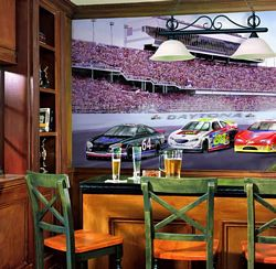 Daytona Raceway Mural Chair Rail Wall Mural RA0201MRoom Shot