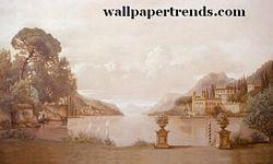 Lake Como MuralChair Rail Wall MuralRA0206MLake Como MuralChair Rail Wall MuralRA0206M