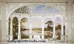 White Arches Mural Chair Rail Wall Mural RA0212M White Arches Mural Chair Rail Wall Mural RA0212M