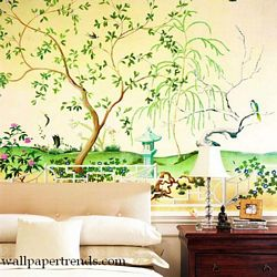Oriental Garden MuralChair Rail Wall MuralUR2040MRoom Shot