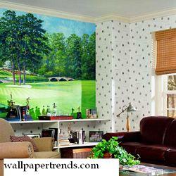 Golfer's Paradise MuralChair Rail Wall MuralUR2052MRoom Shot