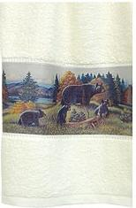 Great Bear Lodge bathroom decor bath towels set