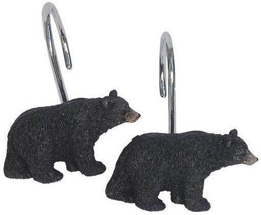 Great Bear Lodge  bathroom Shower Curtain Hooks