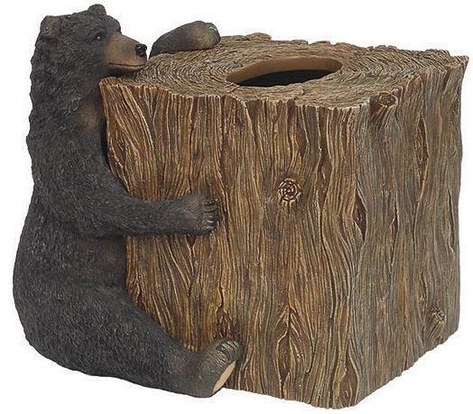 Great Bear Lodge  bathroom Tissue Box Holder