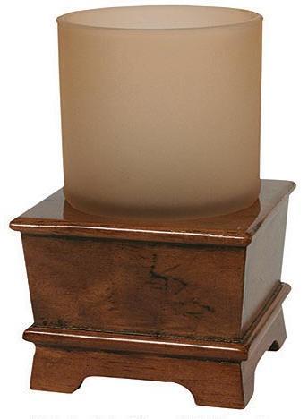 Hardwood Burl  bathroom Cup Tumbler