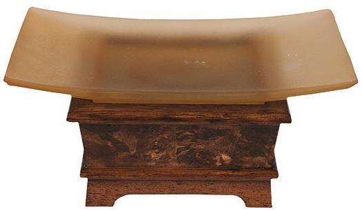 Hardwood Burl bathroom soap dish