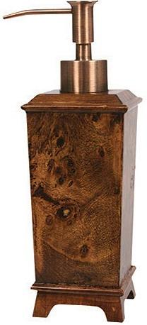 Hardwood Burl  bathroom Soap/Lotion Dispenser Pump