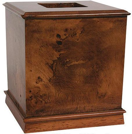 Hardwood Burl  bathroom Tissue Box Holder
