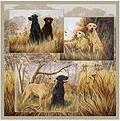 Hunting Dogs bathroom shower curtains