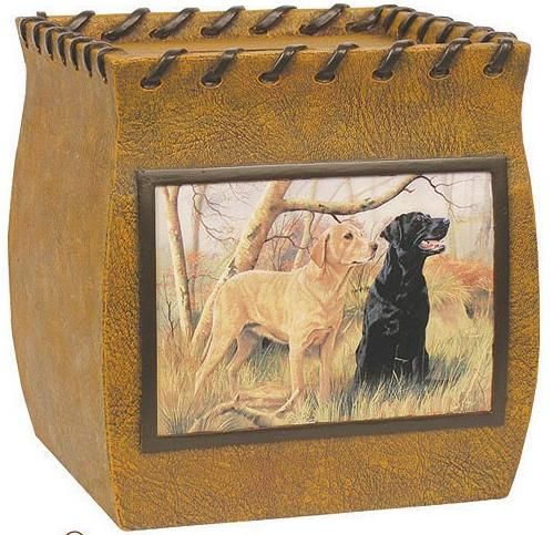 Hunting Dogs bathroom tissue box holder