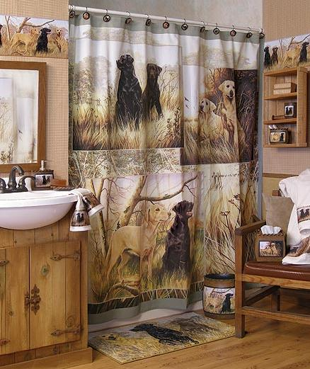 hunting dogs cabin lodge decor bathroom accessories huge