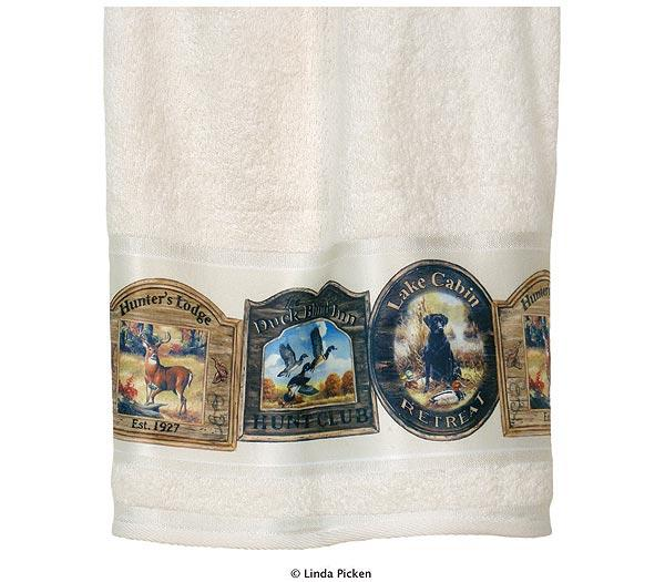 Hunting Lodge Cabin  bathroom Bathroom Bath Towels