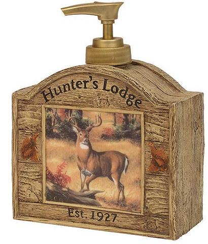 Hunting Lodge Cabin  bathroom Soap/Lotion Dispenser Pump