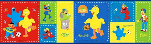 Grover, Cookie Monster, Oscar the Grouch, Elmo, Bert and Ernie from Sesame Street