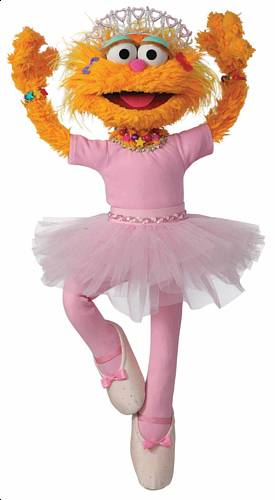 Sesame Street's Zoe Loves to Dance Die Cut Out Wall Mural