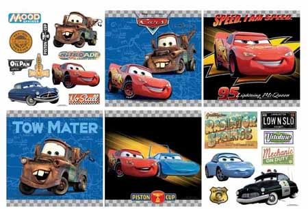 pixar cars wallpaper. Disney Pixar Cars Decorating